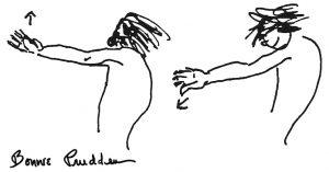 Shoulder Rotation - Bonnie Prudden Drawing