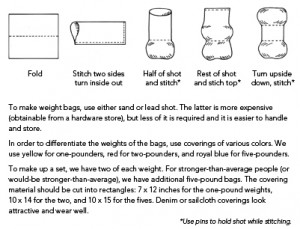 How to make Bonnie Prudden weight bags