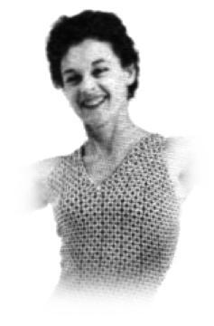 Bonnie Prudden's face