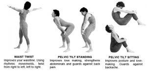 Exercises: Waist Twist and Pelvic Tilts