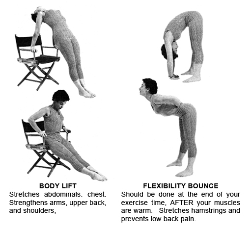 Exercises: Body Lift, Flexibility Bounce