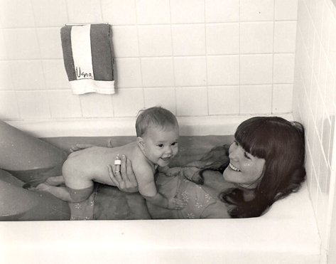 baby in the bathtub photo