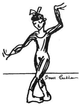 Dancer drawing by Bonnie Prudden