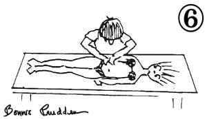 The Front of the Back - drawing by Bonnie Prudden