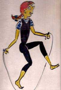 Jumping Rope drawing by Bonnie Prudden
