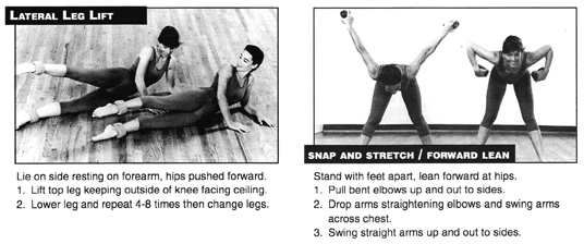 Lateral Leg Lift + Snap and Stretch