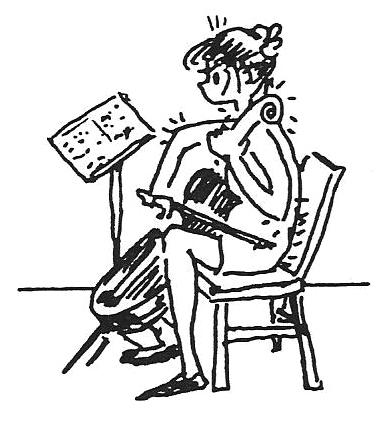 Cellist drawing by bonnie prudden