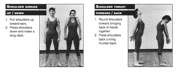 Shoulder Shrugs and Thrust Exercises