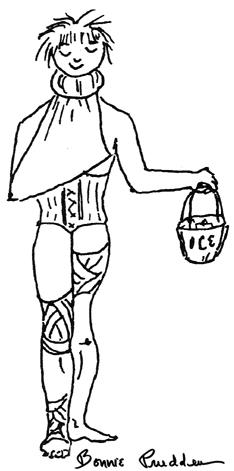 Todays Sports Preparation - drawing by Bonnie Prudden
